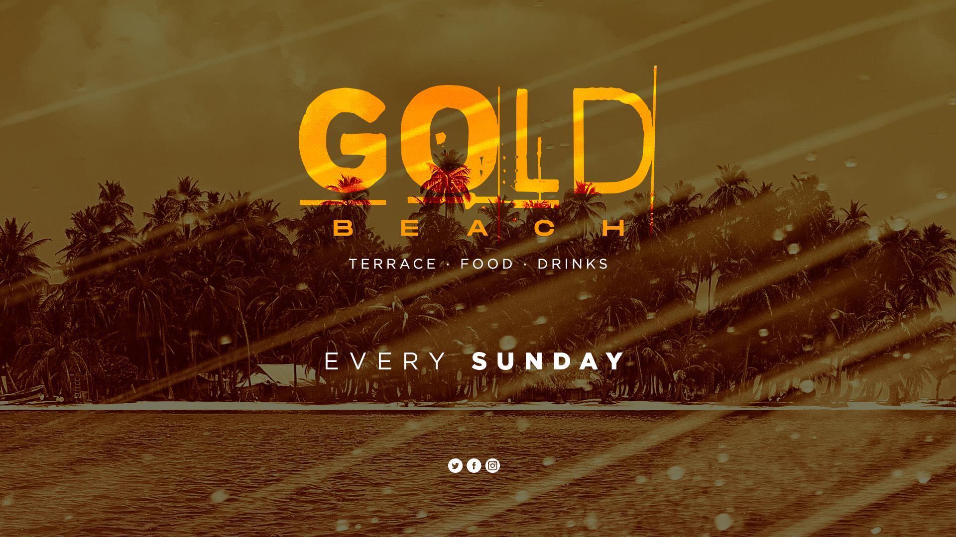 Gold Beach todos los domingos en la sala opium de barcelona